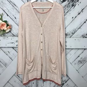 LOGO | Lori Goldstein Button Front Slouch Cardigan